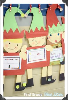 First Grade Blue Skies: Christmas Crafts in the Classroom: Elves