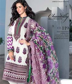 Gul Ahmed Chantilly de Chiffon festive collection CT-119