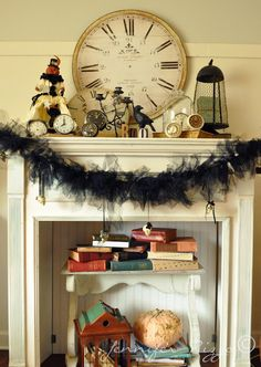 Spooky Halloween mantel.....Show your spooky decor.... - Jennifer Rizzo