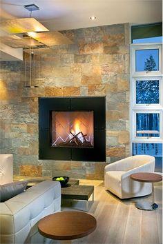 Contemporary Fireplace by Donna Grace McAlear