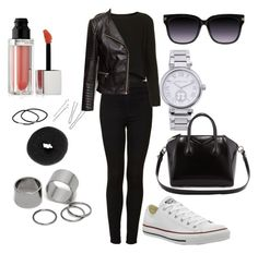 Untitled #167 by fashionxstuff on Polyvore featuring polyvore fashion style Topshop H&M Converse Givenchy Michael Kors Pieces NLY Accessories Maybelline