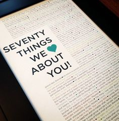 TEMPLATE for the 90 Things We Love About You by DrawbridgeCreative