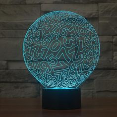 Number Pattern Colorful 3D LED Lamp-GoAmiroo Store