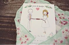 tying the knot invitation - so cute!