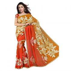 Bollywood Embroidery Pure Georgette Silk Saree 408