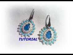 Come fare orecchini incastonati a goccia Tutorial perline - YouTube