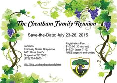 The Cheatham Family Reunion, Jul 23-26, 2015