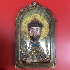 Nicolau II : ícone concluído em mosaico.