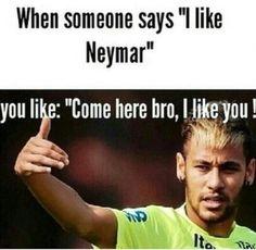 I love Neymar Soccer Memes, Football Memes, Football Is Life, Football Soccer, Hockey, Neymar Memes, Neymar Pic, Good Soccer Players, Funny Times