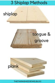 Have you ever wondered what shiplap REALLY is? Get the Shiplap Guide: Shiplap, Tongue & Groove, and Plank Walls (Part . Learn the 3 most popular methods used to shiplap walls, and find all the info you need to add it to your home. Installing Shiplap, Shiplap Diy, Shiplap Boards, Shiplap Ceiling, Plank Ceiling, White Shiplap, Painting Shiplap, Faux Painting, Tongue And Groove Ceiling