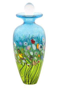"""Meadow Perfume Bottle"" Art Glass Perfume Bottle Created by Robert Held"