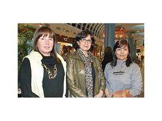 Ofelia Yegros, Graciela Abente y Delza Helguero.