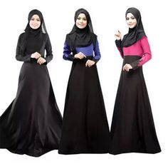 Muslim abaya 2015 long sleeve maxi dress muslim clothing for women abaya turkish new dubai kaftan plus size islamic clothing #Islamic clothing New Long Dress, Hijab Abaya, Mode Abaya, Muslim Dress, Muslim Hijab, Islamic Clothing, Arab Clothing, Modest Clothing, Maxi Robes