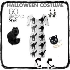 Last Minute Black Cat Costume by erikakaisersot on Polyvore featuring moda, Kim Rogers and 60secondstyle