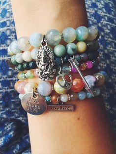 Ganesha and love. Bracelets. Free spirit.