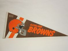 Cleveland Browns NFL Football Pennant 1980'S
