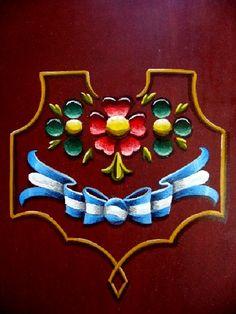 carpeta fileteada 1 by elfeli Argentine, Country Paintings, Arte Popular, Tole Painting, Tango, American Art, Folk Art, Diy And Crafts, Tapestry