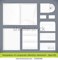 Set Of Templates Corporate Identity. Vector Illustration (Eps10) - 95098588 : Shutterstock