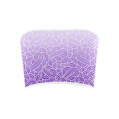 Ombre purple and white swirls doodles Bandeau Top (100 SEK) ❤ liked on Polyvore featuring tops, women, bandeau top, white top, purple bandeau top, white bandeau bikini top and white bandeau top