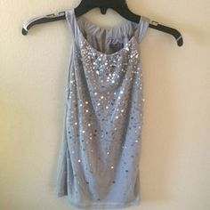 Ann Taylor Tops - Gray sequined shirt