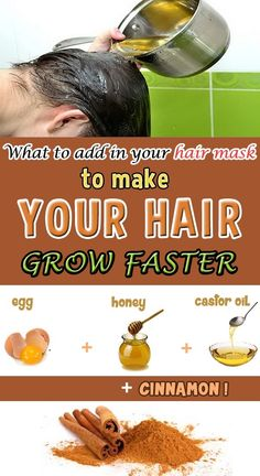 Natural hair masks help you feed and maintain your hair shiny and healthy.If you… Natural hair masks help you feed and maintain your hair shiny and healthy.If you add ths ingredient, the results will be miraculous. Make Hair Grow Faster, Help Hair Grow, Grow Long Hair, How To Make Hair, Grow Natural Hair Faster, Hair Remedies For Growth, Hair Growth Treatment, Hair Growth Tips, Castor Oil For Hair Growth