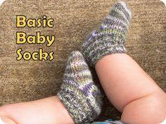 easy knit baby socks.