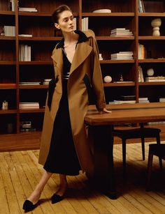 Front Office:SpringLayers That Work            Photographed by Hanna Tveite     Weather the unpredictable spring-to-summer transition with lightweight layers that are refined yet versatile. Builda work wardrobe grounded incrisp cotton shirting, a modern trench, an office-appropriate take on denim, and streamlined dresses.        Marie Marot Vicky V-Neck Shirt, Khaite Cate Turtleneck Bodysuit, Martin Grant Paperbag Waist BermudaAt top: Gabriela Hearst Duke Sleeveless Top and Wytte Skirt…