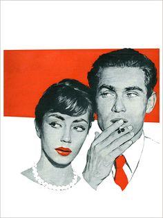 Power Couple - Affiche d'Art de la collection vintage de Slap boutique : Le Grenier