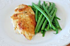 Parmesan Crusted Chicken {Hellmann's Mayo Recipe} SUPER good, SUPER easy. I didn't have bread crumbs so I used townhouse crackers and italian seasoning.