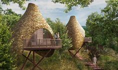 Blue Forest treehouse consultants just unveiled plans for Nesting, an incredible multi-million pound treehouse and lodge development that lets you reconnect with nature inside giant bird nest-like treehouses. The idyllic and eco-sensitive getaway will be nestled within the beautiful Robin Hill Country Park on the UK's Isle of Wight.