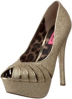 $44.08-$129.95 Betsey Johnson Women's Breann-G Open-Toe Pump,Gold Glitter,9.5 M US -  http://www.amazon.com/dp/B004NNYE5C/?tag=icypnt-20