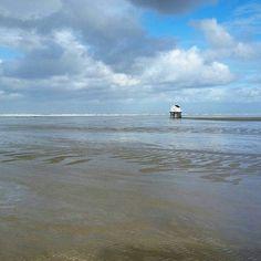 Jutschutting compleet verdwenen na extreem hoog water #Vlieland