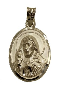FB Jewels 925 Sterling Silver Unisex CZ Jesus Religious Charm Pendant