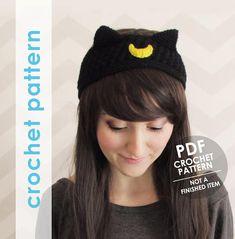 Crochet headband pattern sailor moon headband artemis luna