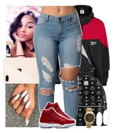 """oversize contest"" by tropic-baby ❤ liked on Polyvore featuring Vetements, MCM, GUESS and Michael Kors"