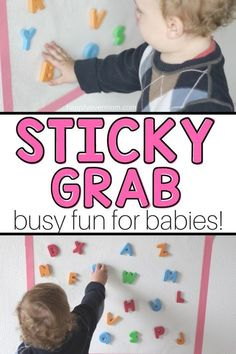 Sticky Grab A Fun Activity For Baby That You Can Set Up In Minutes