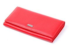 Fashion Womens Red Real Genuine Leather Zipper Handbag Wallet Long Day Clutches Female Lady Coin Purse Card Holder bags