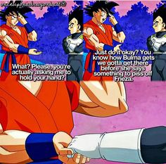 Goku immediately mentioned Bulma and Vegeta stopped protesting....wonder why?