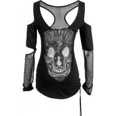 Women's top with net sleeves