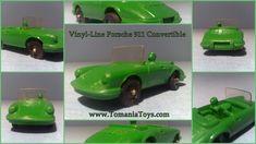 ** TOM'S TOY & RADIO WORLD TOMANIA **: VINYL-LINE GERMANY Pontiac Convertible, Porsche 911 Cabriolet, Police Radio, Mercedes 190, Oldsmobile Toronado, Big Tractors, Porsche Carrera, Tin Toys, Line