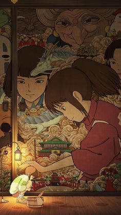 Spirited Away Phone Wallpaper Studio Ghibli Art, Studio Ghibli Movies, Anime Scenery Wallpaper, Cartoon Wallpaper, Animes Wallpapers, Cute Wallpapers, Spirited Away Wallpaper, Spirited Away Poster, Spirited Away Art