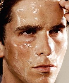 """""""In the shower I use a water activated gel cleanser, then a honey almond body scrub, and on the face an exfoliating gel scrub. Then I apply an herb-mint facial mask which I leave on for 10 minutes while I prepare the rest of my routine."""" Patrick Bateman, American Psycho."""