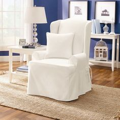 stripe slipcovers chair wing home garden fit overstock less recliner subcat stretch covers sure slipcover for
