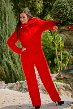 ____________ COLOUR : Red ( There may be a slight difference because of the different monitors' representation) ____________ ♥ In the picture the model is wearing a garment with these measure Designer Jumpsuits, Catsuit, Icelandic Sweaters, Steampunk Corset, Black Milk Clothing, Thing 1, Angora, Thick Sweaters, Patterns