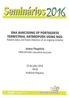 DNA Barcoding of Portuguese Terrestrial Arthropods using NGS