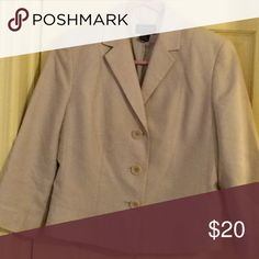 Ann Taylor Casual suit jacket Beige all Cotten lined, tailored jacket, waist length; like new. Ann Taylor Jackets & Coats Blazers