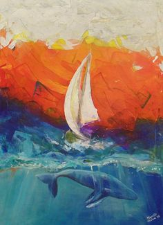 Peace Below the Surface - painting by Marcello Cicchini. Really want to try a palette knife painting like this!