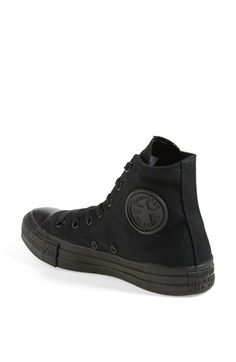 153a30448b8930 Converse All Star Black Monochromatic High Top Canvas Sneakers ...