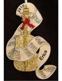 Golden Cello  - Personalized Family Christmas Ornament