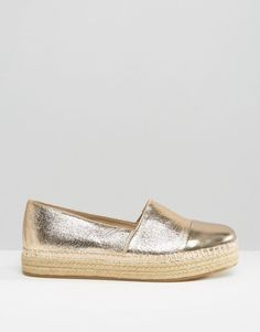 Image 1 of Steve Madden Prioriti Gold Metallic Espadrilles